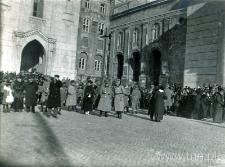 Uroczystości na Placu Katedralnym w dniu 5 listopada 1916 roku