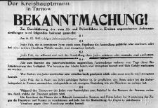 Ogłoszenie o przymusowym osiedlaniu się Żydów w wyznaczonych dzielnicach