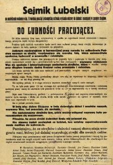 Odezwa Sejmiku Lubelskiego