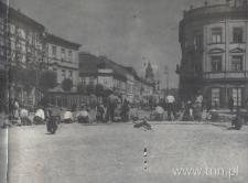 Krakowskie Przedmieście w Lublinie w czasie regulacji. Fotografia