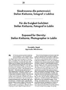 Exposed for Eternity:Stefan Kiełsznia, Photographer in Lublin