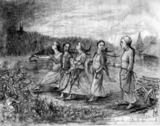 """""""Legenda o czterech kamieniach"""" - ilustracja autorstwa Roberta Sawy"""