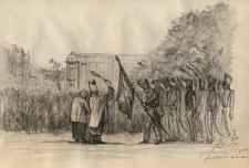 Poświęcenie sztandaru Straży Bezpieczeństwa 14 grudnia 1830 roku