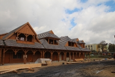 """Reconstruction of the houses with arcades at """"The City on the Trail of Borderland Cultures"""" in Biłgoraj"""