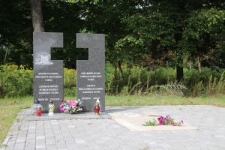 Memorial - Lapidarium at the former catholic cemetery in Berezne, now a park