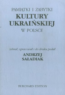 Pamiątki i zabytki kultury ukraińskiej w Polsce