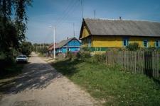 Leningradzka street in Indura, area of the former ghetto