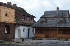 """Biłgoraj, """"The City on the Trail of Borderland Cultures"""", a reconstruction of the arcaded houses"""