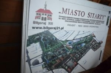 """Biłgoraj, """"The City on the Trail of Borderland Cultures"""", the city's map"""