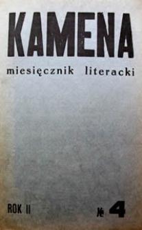 Kamena : miesięcznik literacki Nr 4 (14), R. II (1934)