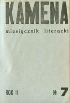 Kamena : miesięcznik literacki Nr 7 (17), R. II (1935)