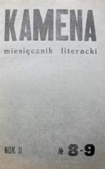 Kamena : miesięcznik literacki Nr 8-9 (18-19), R. II (1935)
