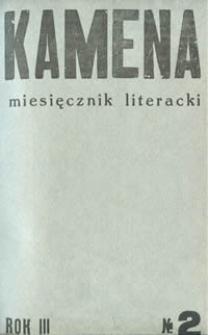 Kamena : miesięcznik literacki Nr 2 (22), R. III (1935)