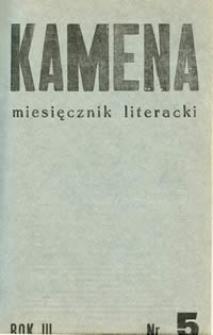 Kamena : miesięcznik literacki Nr 5 (25), R. III (1936)