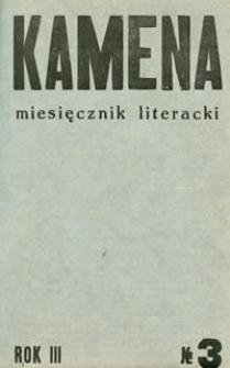 Kamena : miesięcznik literacki Nr 3 (23), R. III (1935)