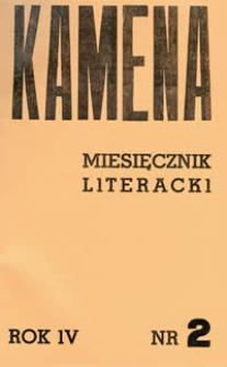 Kamena : miesięcznik literacki Nr 2 (32), R. IV (1936)