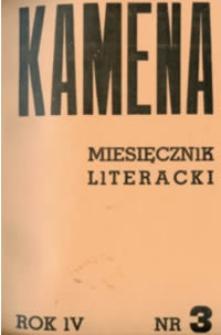 Kamena : miesięcznik literacki Nr 3 (33), R. IV (1936)