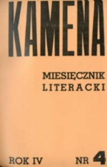 Kamena : miesięcznik literacki Nr 4 (34), R. IV (1936)