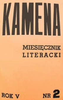 Kamena : miesięcznik literacki Nr 2 (42), R. V (1937)