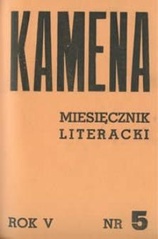 Kamena : miesięcznik literacki Nr 5 (45), R.V (1938)