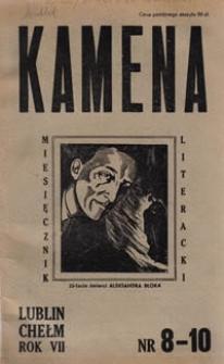 Kamena : miesięcznik literacki Nr 8-10 (68-70), R. VII (1946)