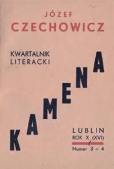 Kamena : kwartalnik literacki Nr 3-4 (83-84), R. X (XVI) (1949)