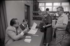 Voting at one of the municipal voting committees in Lublin