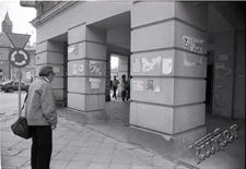 Election posters at Krakowskie Przedmieście in Lublin