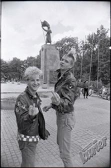 Punk-rockers at Litewski Square in Lublin