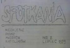 Spotkania : niezależne pismo młodych katolików, lipiec 1979, Nr 8