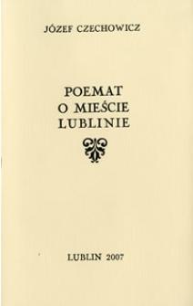 Poemat o mieście Lublinie
